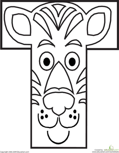 coloring pages with letter t letter t coloring page worksheets animal alphabet and