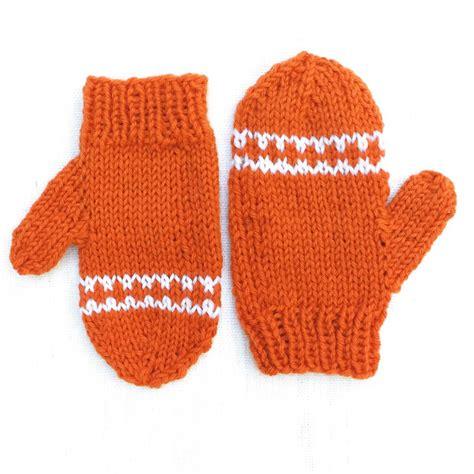 knitting pattern for childrens gloves orange striped toddler mittens allfreeknitting