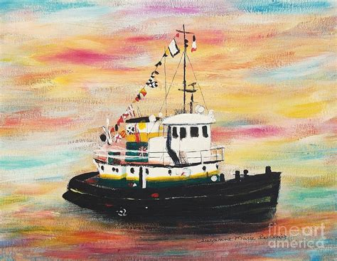 tugboat painting tugboat painting by suzanne marie leclair