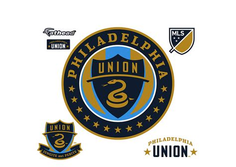 union wall stickers philadelphia union logo wall decal shop fathead 174 for