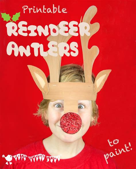 printable reindeer headband printable reindeer antlers to colour and wear reindeer