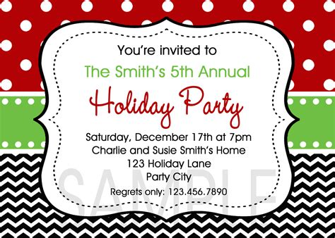 holiday luncheon invitations samples