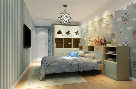 Wallpaper Kids Bedrooms Children Bedroom Interior Design With Furniture And