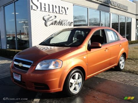 2008 spicy orange metallic chevrolet aveo ls sedan 60804934 gtcarlot car color galleries