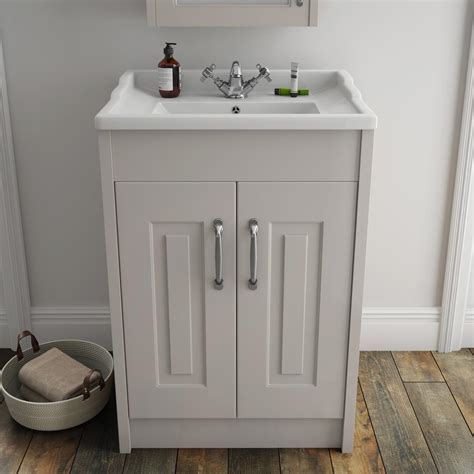 york traditional grey bathroom basin unit victorian