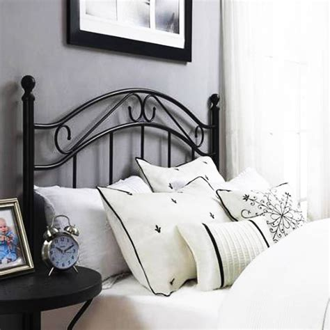 Bed Frame To Headboard Adapters by Size Metal Headboard Black Or White With