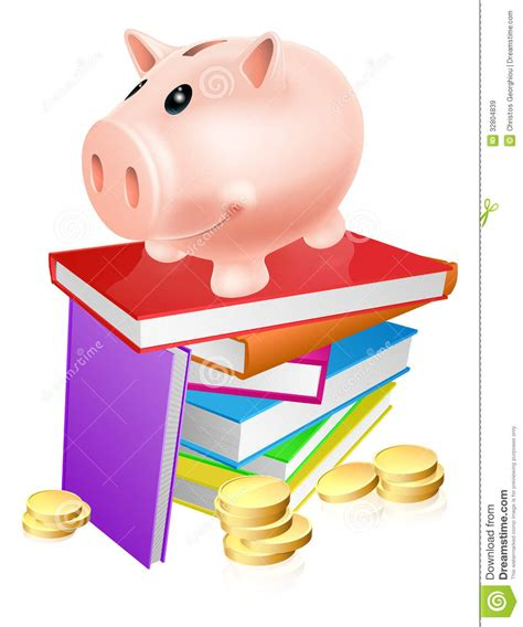 book piggy bank piggy bank on books royalty free stock images image