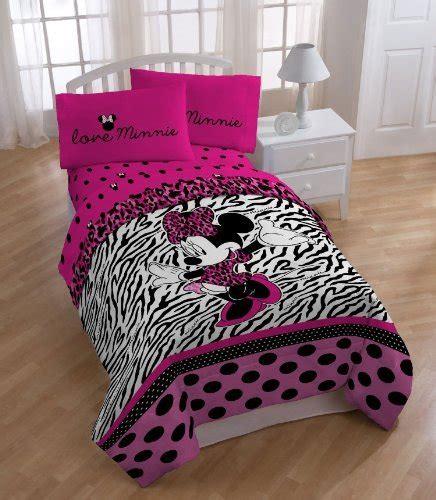 disney minnie mouse comforter zebra print pink size