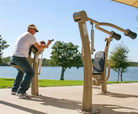 backyard fitness equipment renovated paradise park area b to include outdoor exercise