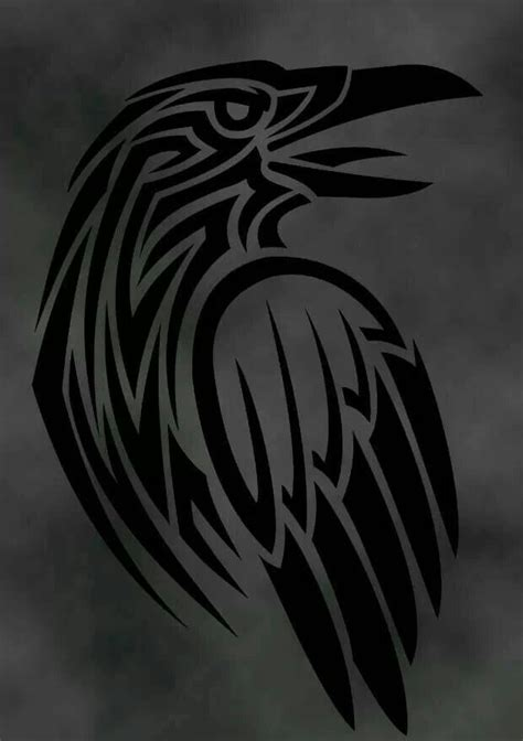 tribal raven tattoos norse design