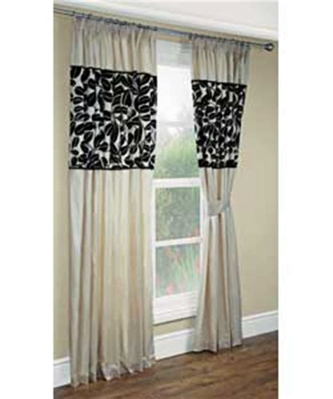 cream black curtains lined drapes