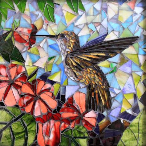 mosaic hummingbird pattern mosaic artists gallery of small art mosaics showcase