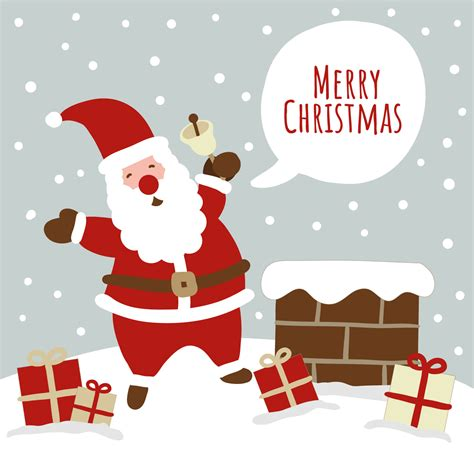 cute christmas scene  santa   vectors clipart graphics vector art