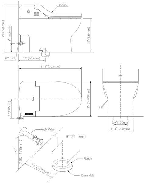 bidet drainage connection bio bidet ib 835 integrated toilet system