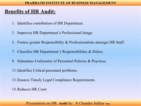 Disadvantages Of Mba In Hr by Hr Audit
