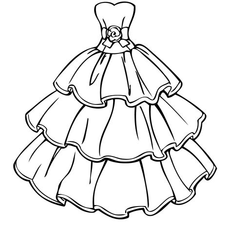 Coloring Page Of A Dress | dress coloring pages to download and print for free