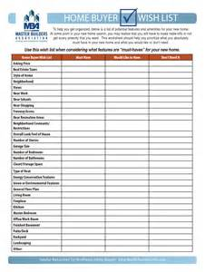 Dream List Template Home Buyers Wish List Must Have Would Like To Have Don