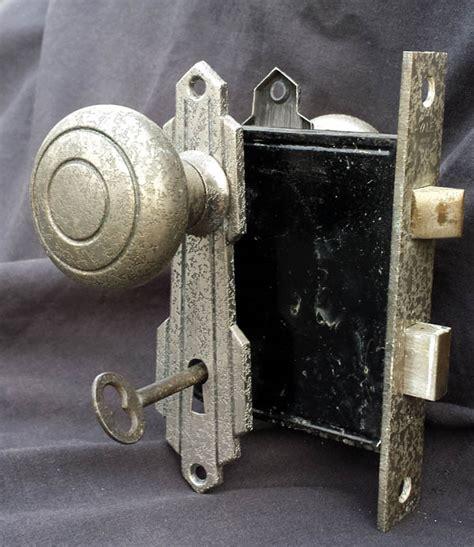 Interior Door Knobs With Key Lock 6 Avail Antique Deco Nickel Brass Interior Door Lockset Set Knob Plate Lock Key