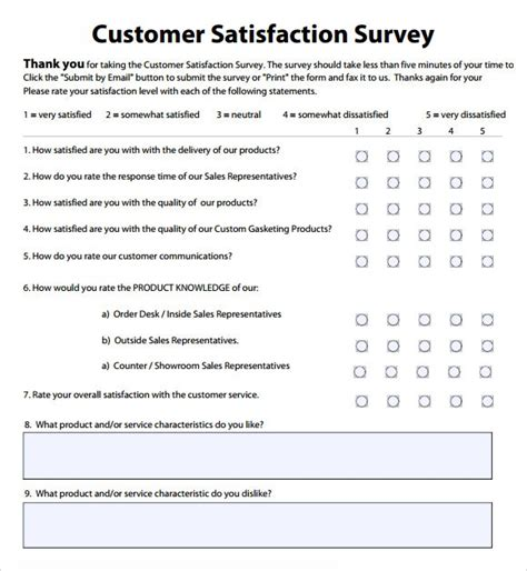 Customer Satisfaction Survey Questions Exles Sle Delux See Template Jeannecope Simple Survey Form Template