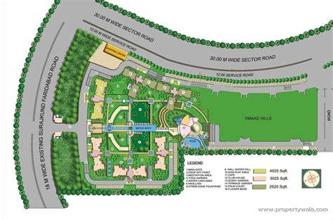 floor plan layout website omaxe forest spa suraj kund faridabad residential
