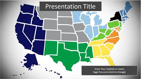 Map Of The Us Powerpoint 9516 Free Map Of The Us Us Map Powerpoint Template Free