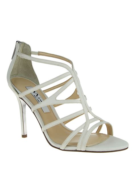 white high heel sandal lyst marisun high heel sandals in white