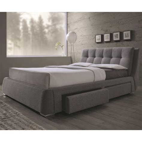 upholstered bed with drawers coaster fenbrook california king upholstered bed with