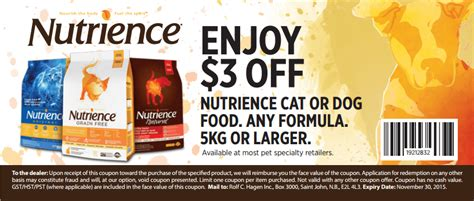 dog food coupons in canada nutrience canada printable coupons save 3 off nutrience
