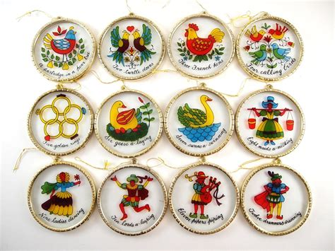 how to make 12 days of christmas ornaments 12 days of ornament set vintage