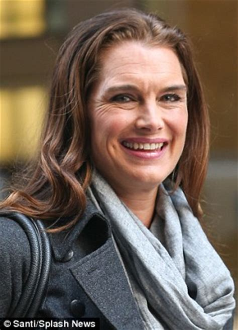 brooke shields proves she's no slave to botox with her
