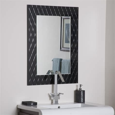 decorate a bathroom mirror decor wonderland strands modern bathroom mirror beyond stores
