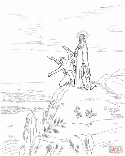 coloring pages jesus tempted desert jesus temptation coloring page free printable coloring