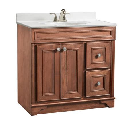Briarwood Cabinets by Briarwood 36 Quot W X 21 Quot D X 34 1 2 Quot H Highland Vanity Sink