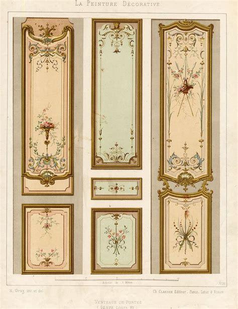 decorative panel frame kit antique print decoration door panel ornament louis xv