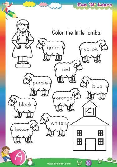 Worksheets For Nursery Students Nursery Worksheets Preschool Activities