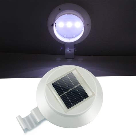 High Quality Solar Landscape Lights High Quality Outdoor Solar Fence Gutter Spot Light Bright White X 1 2 4 8 10 Ebay