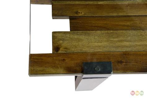 Rustic Mahogany Coffee Table Keystone Rustic Modern Mahogany Coffee Table W Stylish Wood Glass Top