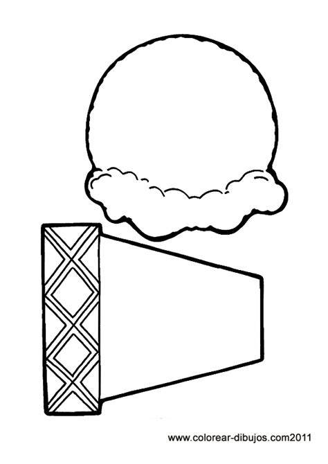ice cream cone coloring page clipart best