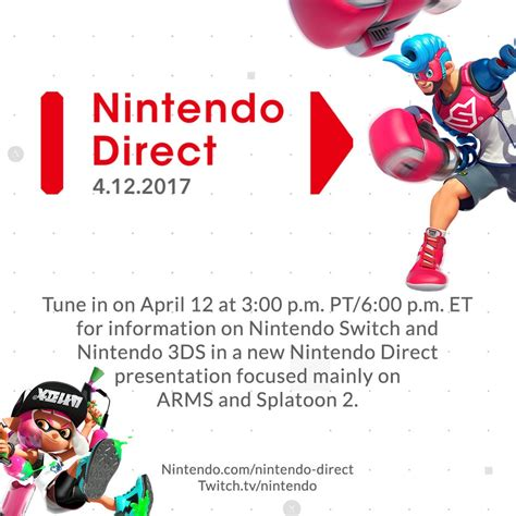 Paling Murah Nintendo Switch Arms Language new nintendo direct announced for arms and splatoon 2