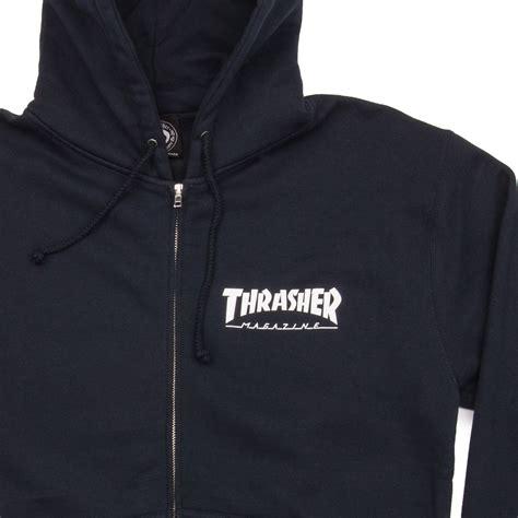 Hoodie Zipper Theater Logo Navy Xxxv Cloth thrasher logo zip hoodie navy