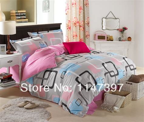 rubber sheets for beds personality pink lattice 4 pcs cotton twin queen king size