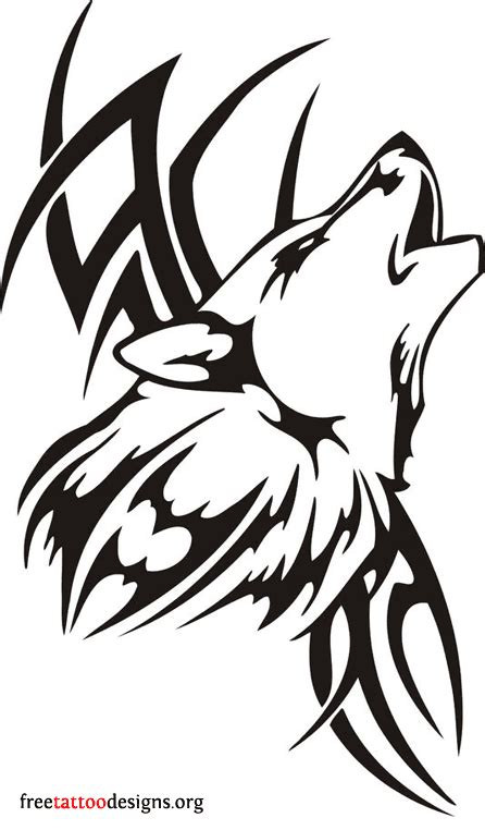 tribal wolves tattoos wolf tattoos