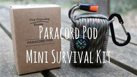test sopravvivenza paracord pod mini survival kit the friendly test