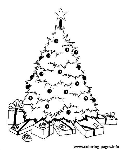 printable christmas tree with presents christmas tree and presents coloring pages printable