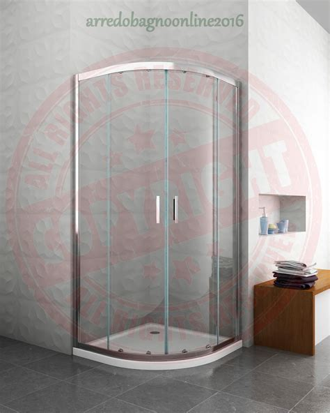 box doccia curvo angolare cabina box doccia curvo 6 mm cromo