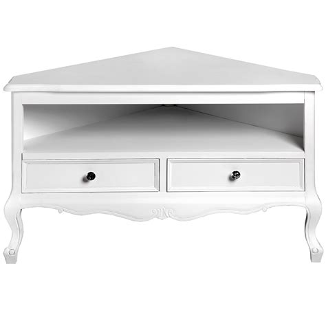 fleur white shabby chic corner tv unit lounge