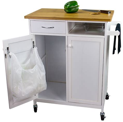 Casters For Kitchen Island by Rolling Butcher Block Top Kitchen Cart