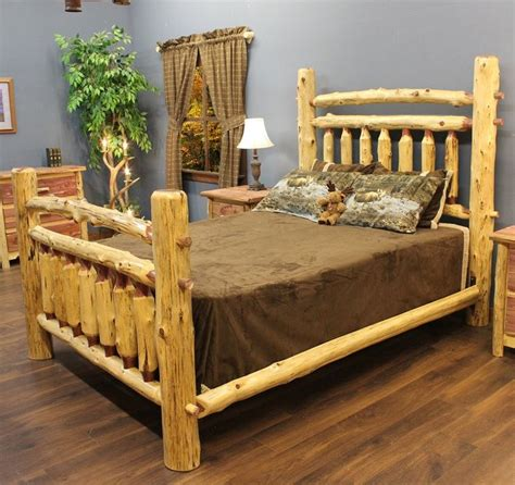 images  cedar bed frames  pinterest log furniture log bed  image search