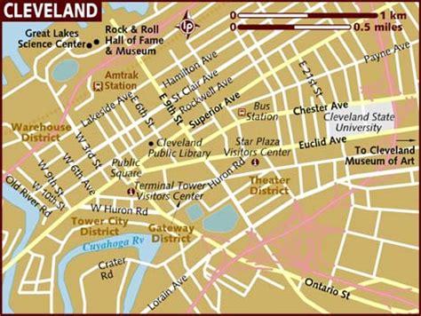 cleveland usa map map of cleveland