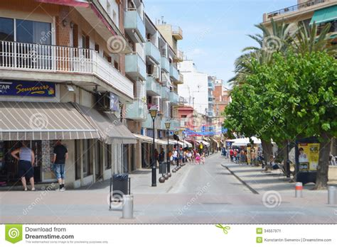 Spanish Mediterranean House Plans calella costa brava beach editorial photo image 34557971